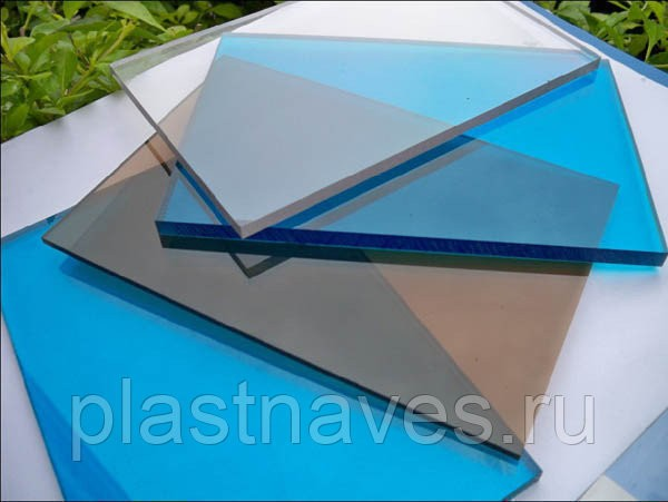 "Монолитный поликарбонат ""Polygal Колибри"" 15 мм цветной  2.05х3.05м"